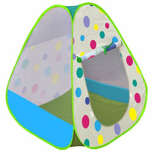 【淘氣寶寶】【CHING-CHING親親】三角繽紛彩球遊戲球屋+100球 CBH-26 (綠色)