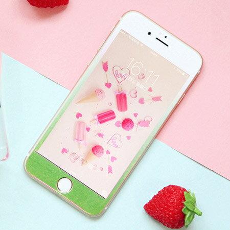 iPhone 7  7 Plus 漸層珠光鋼化玻璃保護貼 3D弧面 超薄軟邊 亮面 滿版