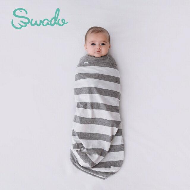 【GMP BABY】美國 Swado 全階段靜音好眠包巾(條紋款)-米菲寶貝