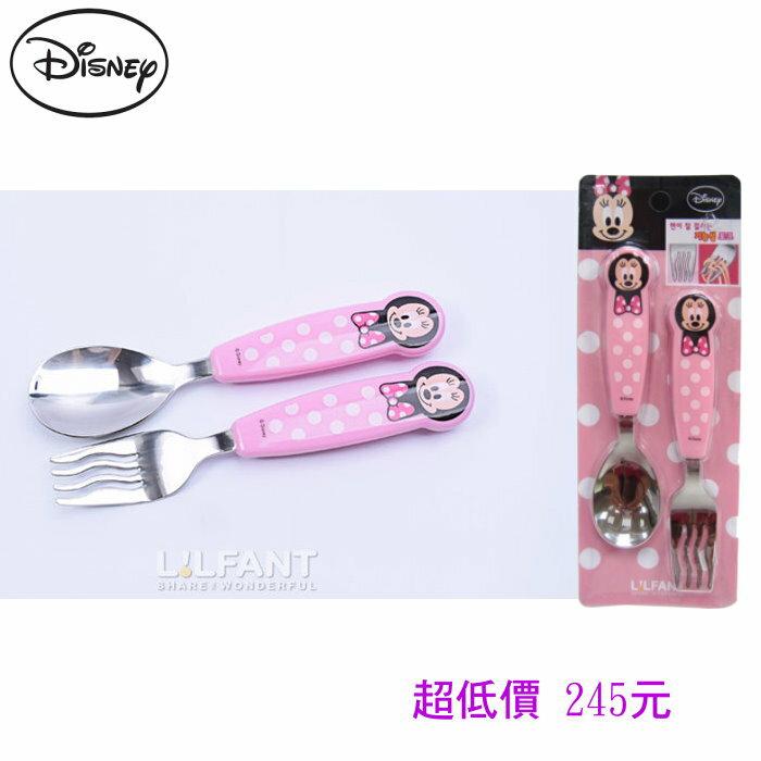 *美馨兒* 韓國 Lilfant 兒童麵食用匙叉餐具組(米妮) 245元