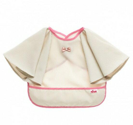 NIVA 可愛造型圍兜口水巾(餐桌小淑女米)