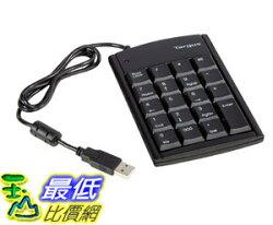 [106美國直購] Targus PAUK10U Ultra Mini USB Keypad, Black