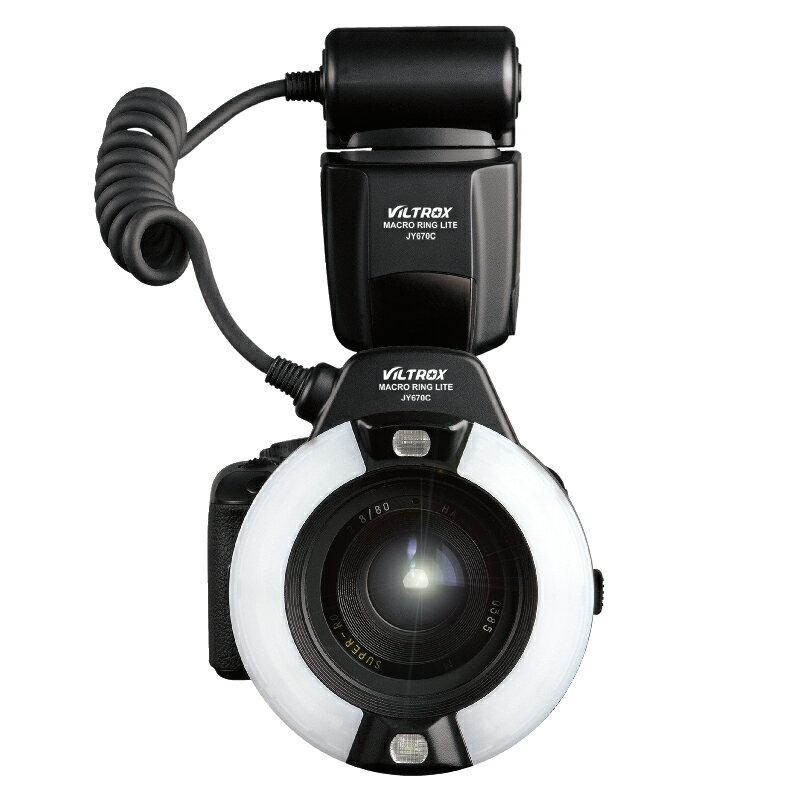 ~普羅相機~VILTROX 唯卓 JY~670C E~TTL環型閃光燈 ^(CANON系統