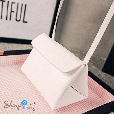 【P049】shiny藍格子-亮麗造型.夏款迷你女包三角包單肩斜挎包小包