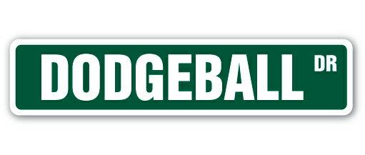 DODGEBALL Street Sign dodge ball team coach player Indoor/Outdoor 18