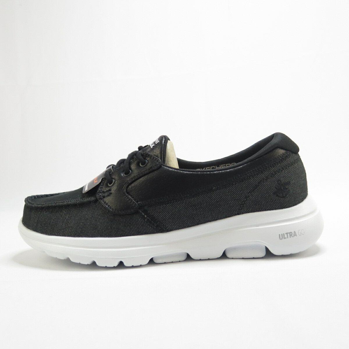 Skechers GO WALK 5 CAPTIVATED 健走鞋 55502BKW 男款 黑【iSport愛運動】