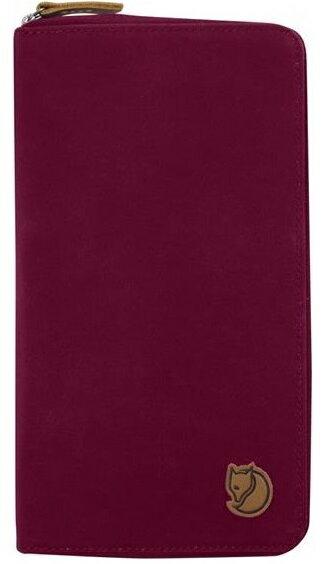 Fjallraven 瑞典北極狐 Travel Wallet 旅遊護照包/復古拉鍊皮夾/旅遊錢包/收納包 24219 420紫紅