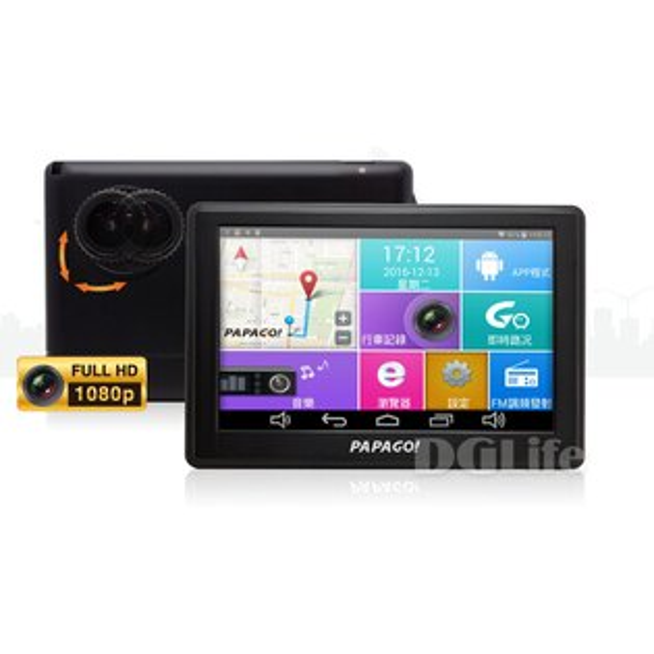 《GOLiFE》GoPadDVR5多功能Wi-Fi行車紀錄聲控導航平板
