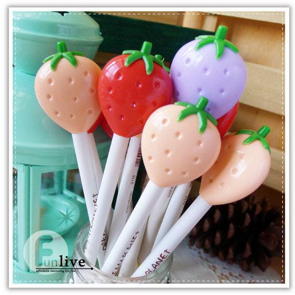 【aife life】草莓中性筆/草莓筆/水果 造型原子筆/創意文具/廣告筆/簽名筆/婚禮小物/贈品禮品