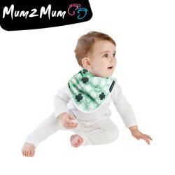 Mum 2 Mum 雙面竹纖維棉機能口水巾圍兜-十字拼圖/X號【悅兒園婦幼用品館】