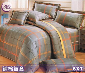 【名流寢飾家居館】摩登時代.100%精梳棉.雙人兩用鋪棉被套.全程臺灣製造