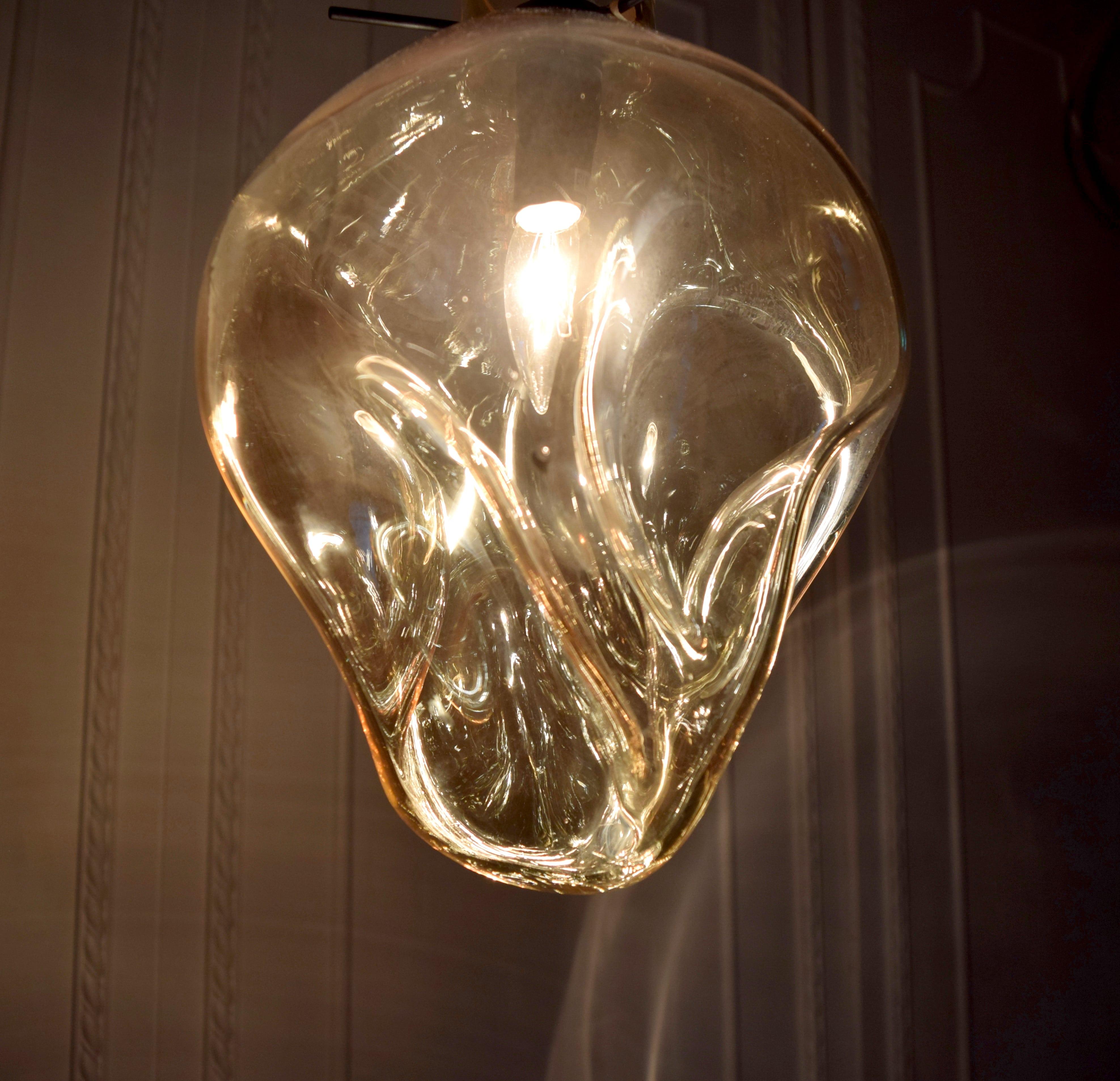 手工吹製琥珀色玻璃吊燈-BNL00114 5