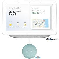 Google Home Hub with Google Assistant (GA00516-US) - Chalk with Google Home Mini