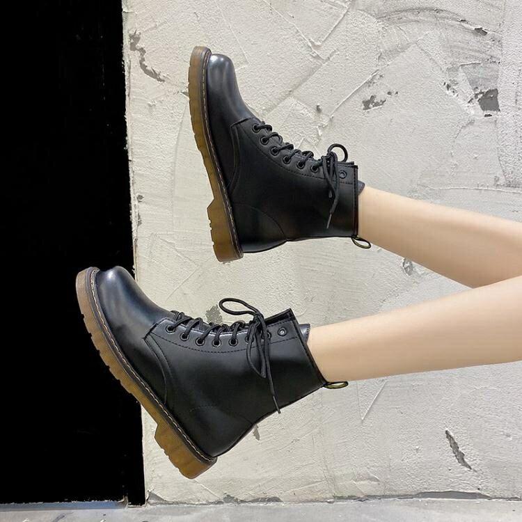 馬丁靴 馬丁靴女英倫風2020春秋季新款百搭網紅薄款透氣單靴瘦瘦短靴子夏