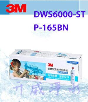 【全省免運費】3M DWS6000-ST/P-165BN智慧型雙效淨水系統-軟水替換濾芯【處理水量2,722公升】