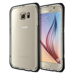 TETRA™ Pro 極簡金屬邊框雙層保護殼 for Samsung Galaxy S6 - 黑