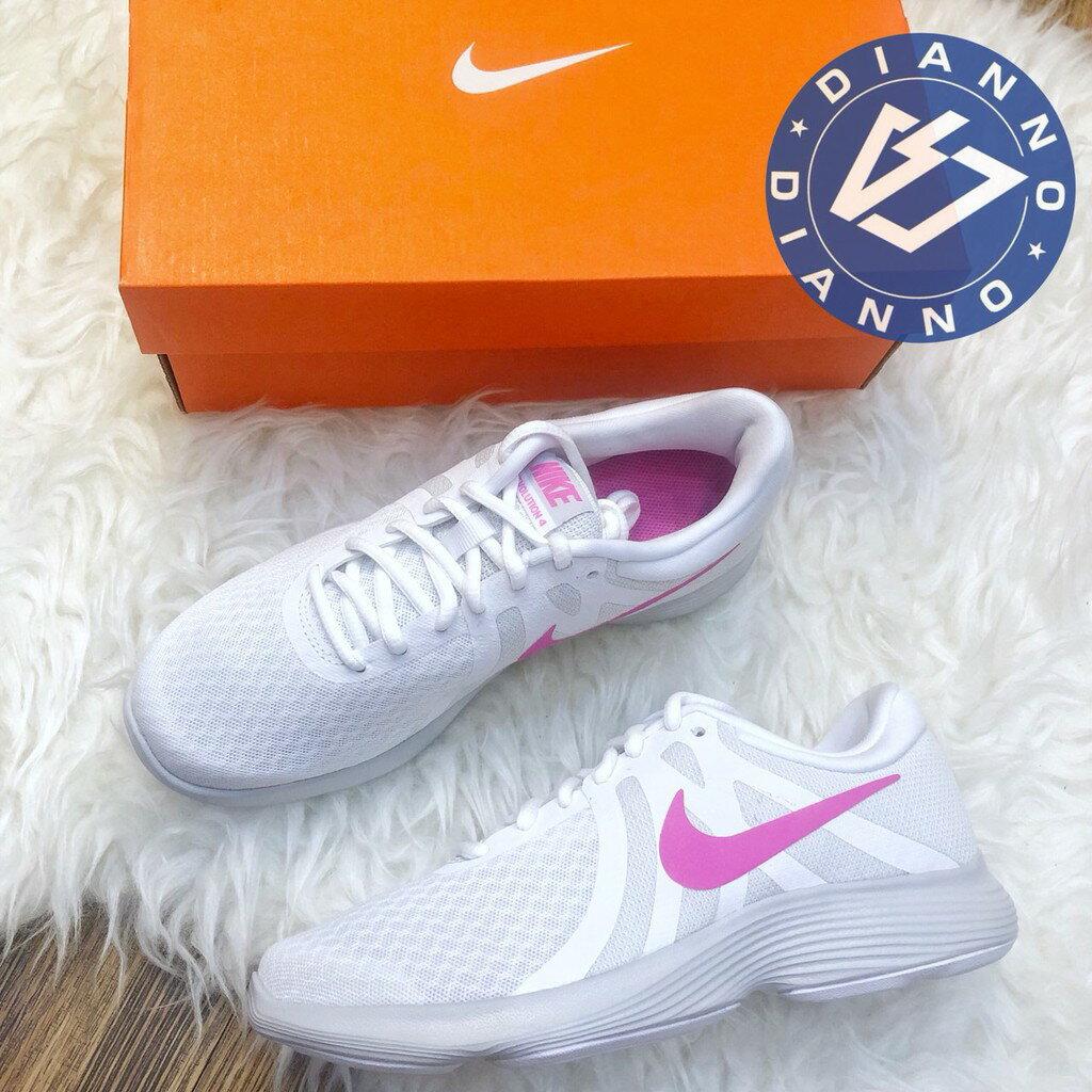 超取$499免運 ▶帝安諾-實體店面 NIKE Revolution 4 運動 球鞋 女鞋 輕量 透氣 白粉 908999-101