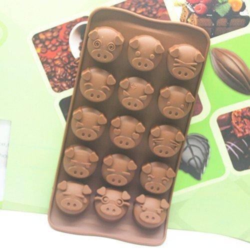 =優生活=15孔??巧克力模具 DIY可愛??圖案 肥皂模具 果凍布丁模具