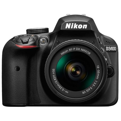 "Nikon D3400 24.2 Megapixel Digital SLR Camera with Lens - 18 mm - 55 mm (Lens 1), 70 mm - 300 mm (Lens 2) - Black - 3"" LCD - 16:9 - 3.1x/4.3x Optical Zoom - Optical (IS) - TTL - 6000 x 4000 Image - 1920 x 1080 Video - HDMI - HD Movie Mode - Wireless LAN 2"