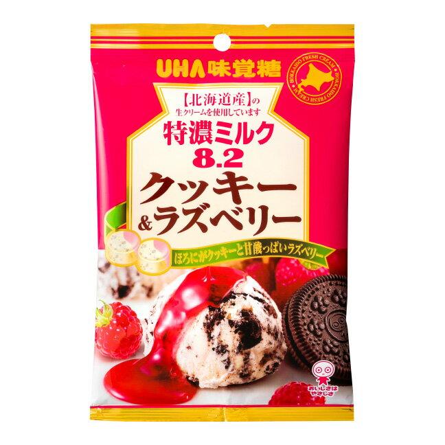 UHA味覺糖 特濃8.2牛奶糖 覆盆子巧克力餅乾風味 84g 特濃???8.2????&?????