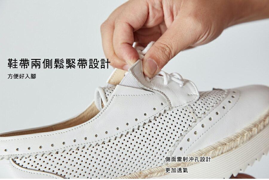 可以跑步的牛津鞋。超軟Q真皮鏤空牛津氣墊厚底鞋【QR73661580】AppleNana蘋果奈奈 5