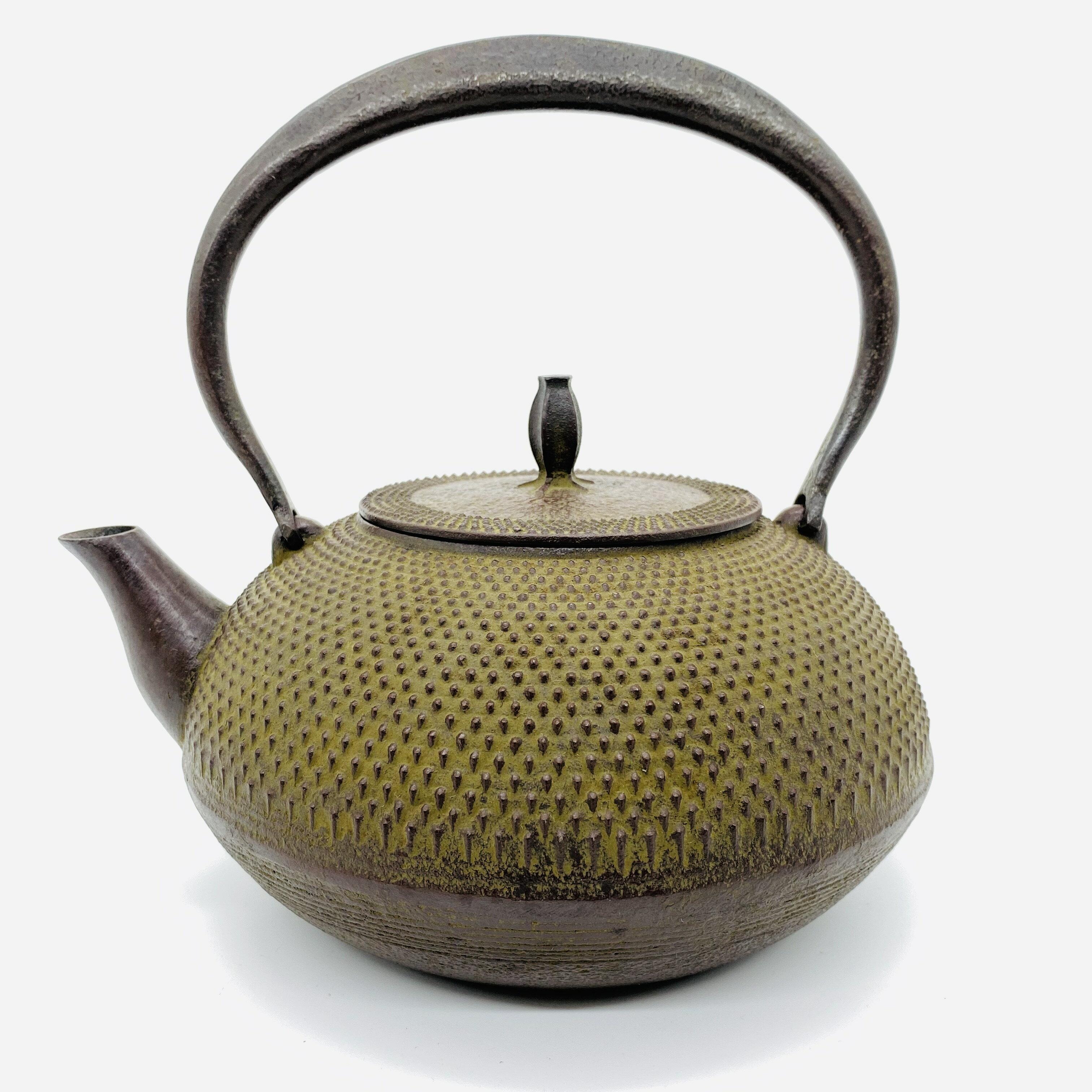 日本 本場南部鐵器-【佐藤勝久 平丸型 霰 1.5L】鐵壺 鉄瓶 煮水 泡茶 只有1個 2