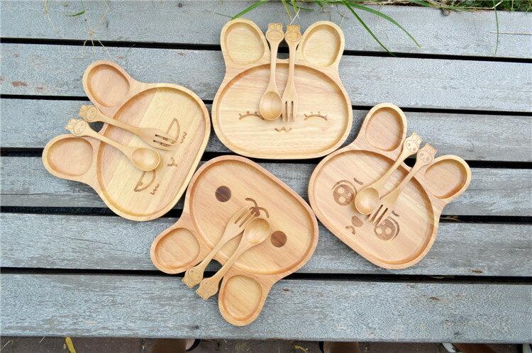 寶貝の食器 兔寶寶木盤 兒童餐具組七天預購+現貨