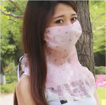 【省錢博士】薄款蕾絲護頸口罩 / 隨機色單入 - 限時優惠好康折扣