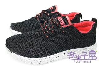 【巷子屋】Limitless利米堤司 女款大網透氣超輕量慢跑鞋 [1365] 黑 超值價$298