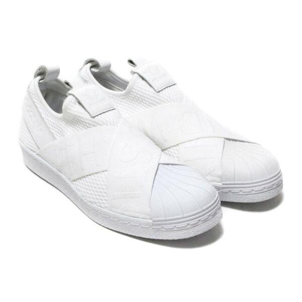 ADIDASSuperstarSlip-on女鞋休閒繃帶貝殼頭復古白【運動世界】CQ2381
