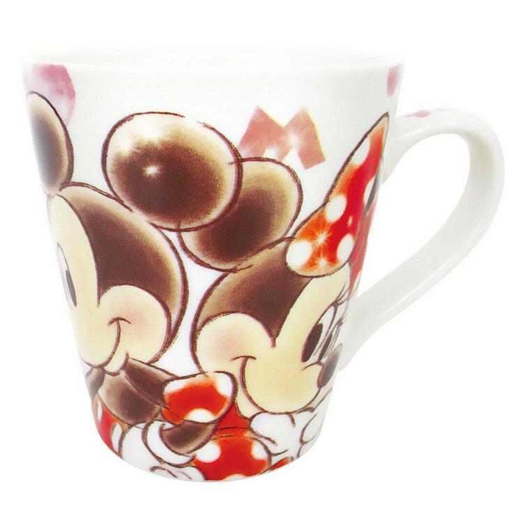 日本製 迪士尼 米奇米妮 陶瓷陶磁 杯子 茶杯 水杯 咖啡杯 馬克杯 350ml 日本進口正版 032327