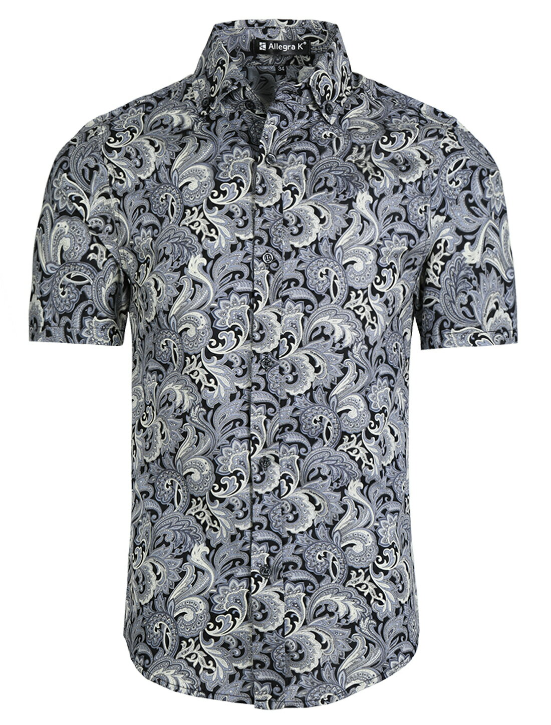 f37c43052 Unique Bargains Men's Summer Button Down Casual Floral Print Short Sleeve  Shirt 0