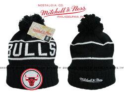 《下殺6折》Shoestw【5056161653192】Mitchell & Ness 毛帽 NBA毛帽 公牛隊 黑色 圓標LOGO