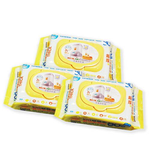 ★衛立兒生活館★PiYo黃色小鴨-EDI超純水嬰兒柔濕巾超厚80抽(80抽*3入)