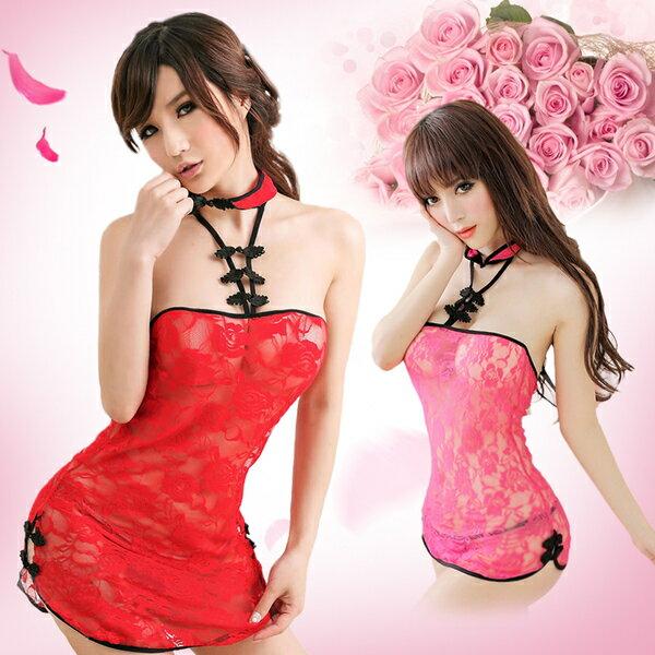 旗袍 透明蕾絲 Cosplay 情趣 性感 角色扮演 中國服 表演服 性感旗袍 夜店 公關