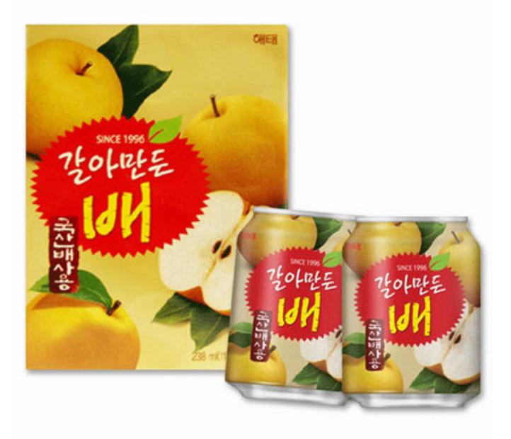 ~韓新館~해태 HAITAI 海太 韓國水梨汁  238ml~12罐