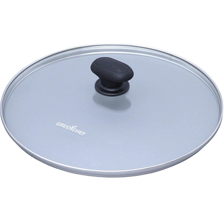 日本IRIS OHYAMA/GREEN CHEF 28公分 專用鍋蓋 鑽石塗層陶瓷鍋 瓦斯爐、IH對應 煎鍋 平底鍋