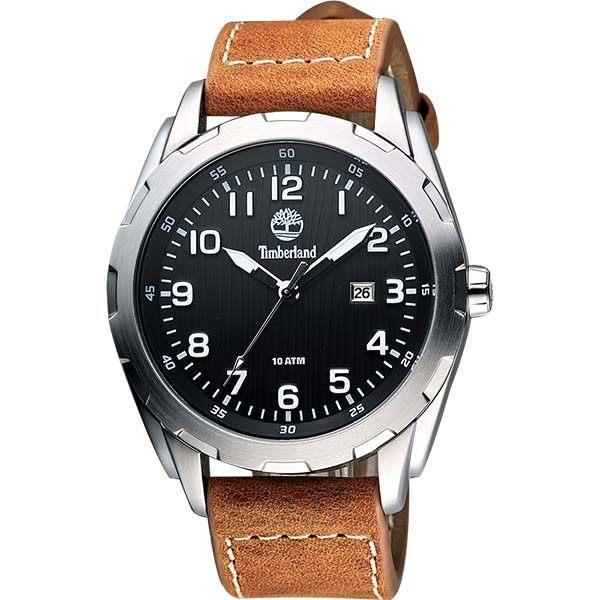 大高雄鐘錶城 Timberland 天柏嵐 TBL.13330XS/ 02木紋質感腕錶/ 黑面45mm
