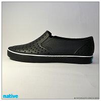 native 輕量懶人鞋、休閒防水鞋到NATIVE SHOES-2017最新款式MILES懶人鞋-黑色