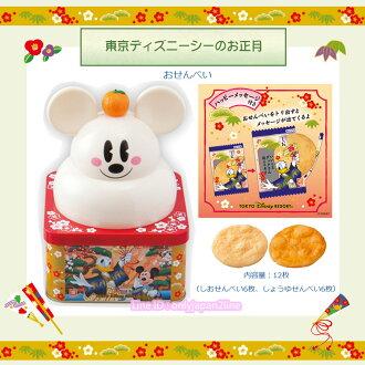 【真愛日本】新年正月福神米奇造型鏡餅禮盒 仙貝餅 迪士尼樂園限定新年 新品 禮盒 食品