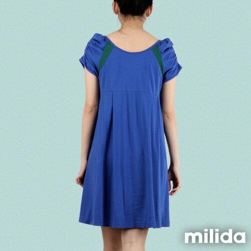 【Milida,全店七折免運】-早春商品-公主袖-舒適寬版洋裝 2
