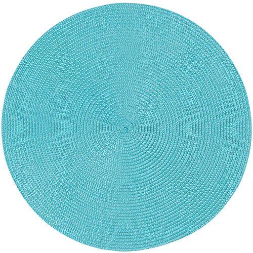 《NOW》素面織紋圓餐墊(漾藍)
