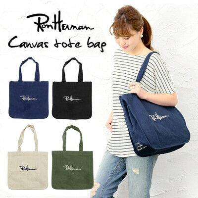 單肩包日系RonHerman大容量加厚帆布休閒包手提包托特包購物袋【現貨+預購】