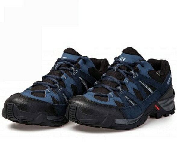 [陽光樂活=]特價SALOMONESCAMBIAGTX男低筒登山鞋-L38139600石板藍x深藍x反光銀