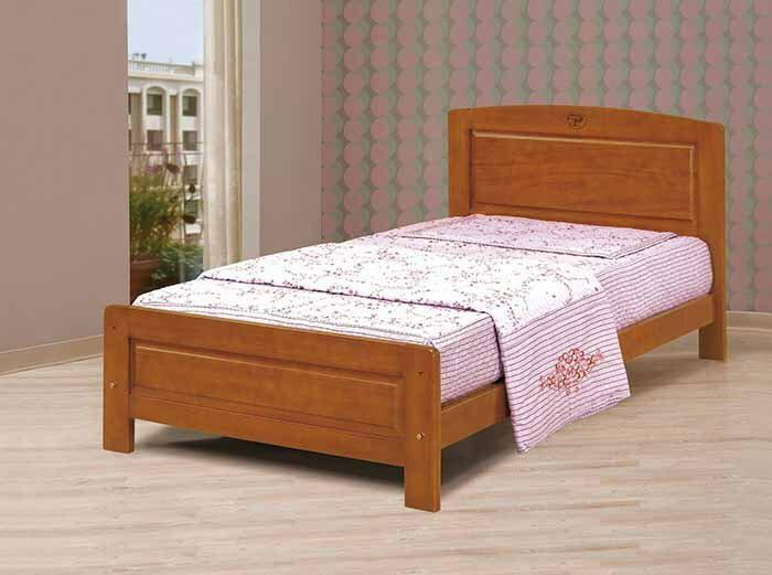 【尚品傢俱】CM-148-2 3.5尺柚木單人床(不含床墊)