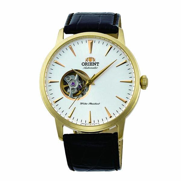 ORIENT東方錶SEMI-SKELETON系列(FAG02003W)半鏤空機械錶皮帶款金41mm