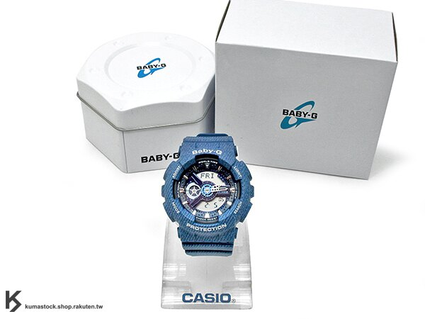 [10%OFF] 2016 最新入荷 43.4mm 錶徑 貼合女性手腕曲線 限定販售 CASIO BABY-G BA-110DC-2A2DR DENIM SERIES 丹寧牛仔系列 藍 女孩專用 G-SHOCK !