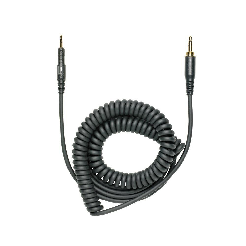志達電子 1.2m Cord Assy BK 日本鐵三角 Audio-technica ATH-M50x 專用1.2m 捲式耳機導線(最長可拉伸到3m)