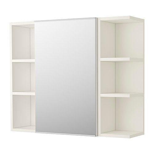 單門兩邊櫃 鏡櫃 IKEA極簡風鏡箱 浴室化妝鏡 寬70x高70x深15cm 半開放式好收納易整理 PVC防水緩衝門片
