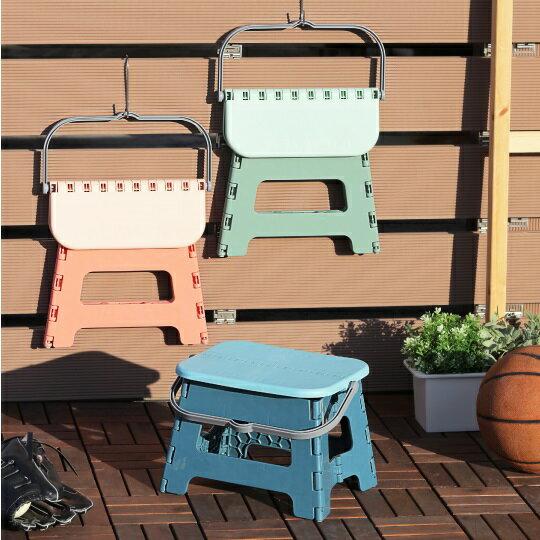 聯府KEYWAY手提快收摺疊椅23.5cm 外出椅 烤肉野餐 台灣製造  露營椅 戶外椅 板凳 烤肉椅 兒童椅  摺合椅(伊凡卡百貨)